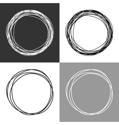 Hand drawn circles design elements vector