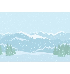 Landscape mountains seamless vector