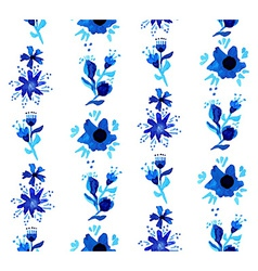 Watercolor floral seamless pattern background vector