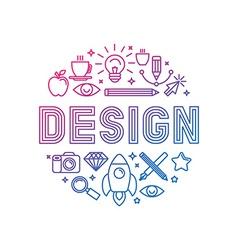 Linear logo design concept vector