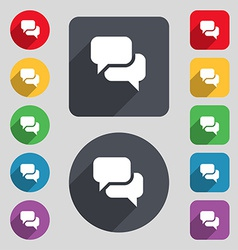Speech bubble think cloud icon sign a set of 12 vector