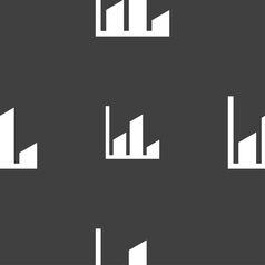 Chart icon sign seamless pattern on a gray vector