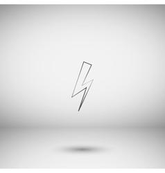High voltage icon vector