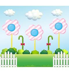 A lollipop garden vector