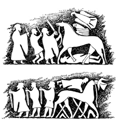 Ancient scene vector image