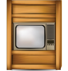 bedside with tv vector image vector image