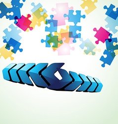 colorful puzzle vector image
