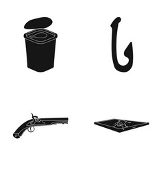 Computer weapon and or web icon in black style vector