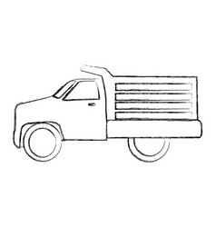 Drump truck isolated icon vector
