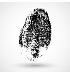 Fingerprint isolated on white vector