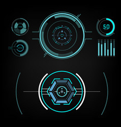 future sight action mode interface ui future vector image vector image