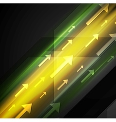 Glowing yellow and green hi-tech background with vector