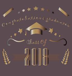 graduation class of two thousand eighteen vector image vector image