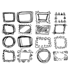 Hand drawn frames set vector