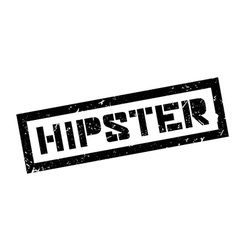 Hipster rubber stamp vector image