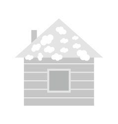 House with Snow vector image vector image