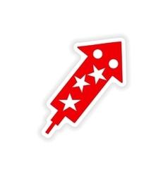 Icon sticker realistic design on paper salute vector