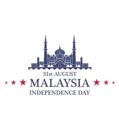 Independence Day Malaysia vector image vector image