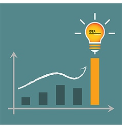 Lamp of idea for graphic graph to height vector
