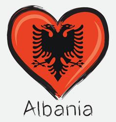 love albania flag vector image vector image