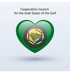 Love arab states of the gulf symbol vector