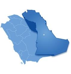 Map of saudi arabia the region eastern province vector