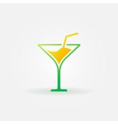 Martini bright icon or logo vector image vector image