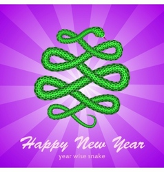 New Year card with a snake symbol of 2013 year vector image vector image