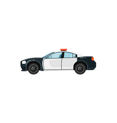 police car isolated vector image vector image