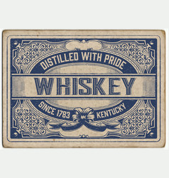 Retro label with cracked style vector