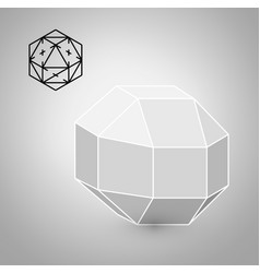 Rhombicuboctahedron is a geometric figure hipster vector