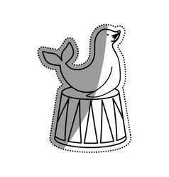 Sealion cartoon animal vector