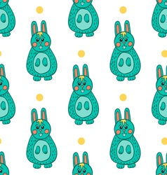 Seamless pattern with easter bunny vector