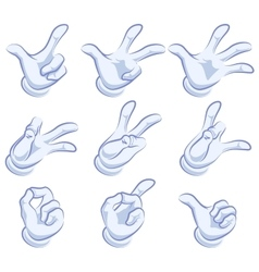 Set of hand gestures Hand in glove vector image