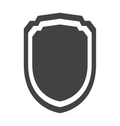 Shield protection insignia security template vector