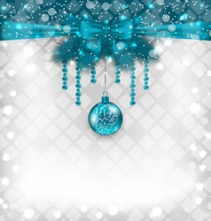 Shimmering background with christmas traditional vector