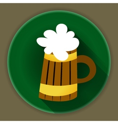 St patrick day beer mug icon vector