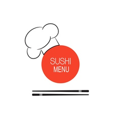 Sushi menu idea vector image