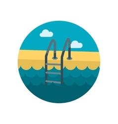 Swimming pool flat icon vector