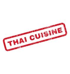 Thai cuisine rubber stamp vector