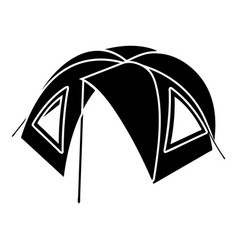 tourist tent icon simple style vector image