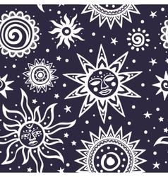 Tribal ornamental sun seamless pattern can be vector