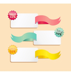 Ribbon soft color sale tag vector