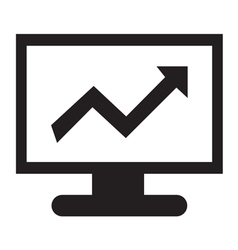 Stock charts icon vector