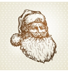 Vintage santa claus sketch vector