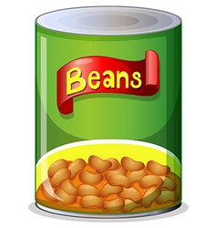 A can of beans vector