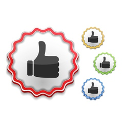 Thumbs up symbol vector