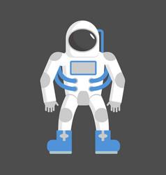 Astronaut isolated cosmonaut on white background vector