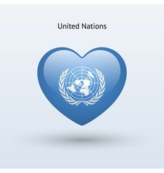 Love united nations symbol heart flag icon vector