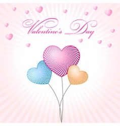 Abstract glamour heart valentine balloons vector